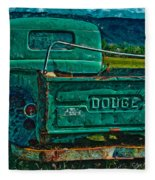 Green Dodge Fleece Blanket