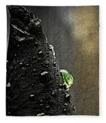 Green Droplet  Fleece Blanket