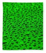 Green Drops On Water-repellent Surface Fleece Blanket