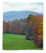 Green Field In The Fall Fleece Blanket