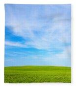 Green Field Landscape Fleece Blanket