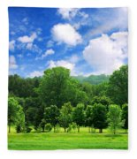 Green Forest Fleece Blanket