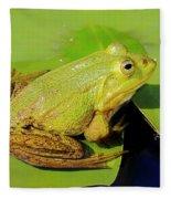 Green Frog 2 Fleece Blanket