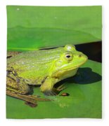 Green Frog Fleece Blanket