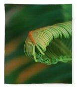 Green Frond  Abstract Fleece Blanket