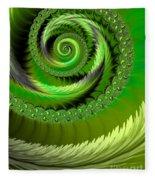 Green Fronds Fleece Blanket
