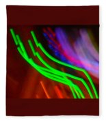 Green Fusion Traveler In The Cosmos Fleece Blanket
