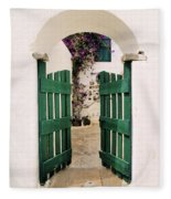 Green Gate Fleece Blanket