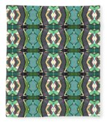 Green Geometric Abstract Pattern Fleece Blanket