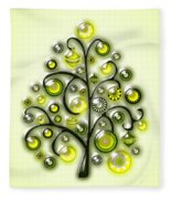 Green Glass Ornaments Fleece Blanket