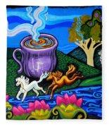 Green Goddess Coffee Fleece Blanket