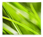 Green Grass Abstract Fleece Blanket