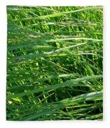 Green Grass Growing Fleece Blanket