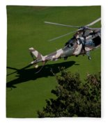Green Grass Landing  Fleece Blanket