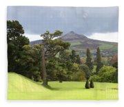 Green Green Garden And Mountain Fleece Blanket