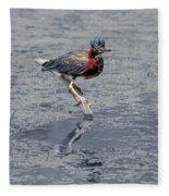 Green Heron In Swannanoa North Carolina Fleece Blanket