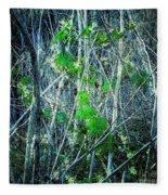 Green In Winter Fleece Blanket