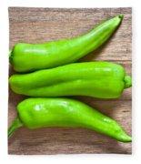 Green Jalapeno Peppers Fleece Blanket