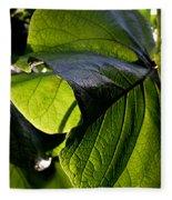 Green Leaf I Fleece Blanket