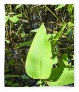 Green Leaf Fleece Blanket