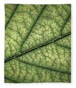 Green Leaf Texture Fleece Blanket