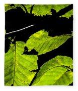 Green Leaves Fleece Blanket