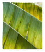 Green Leaves Series 14 Fleece Blanket
