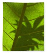 Green Leaves Series 3 Fleece Blanket