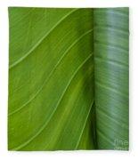 Green Leaves Series  6 Fleece Blanket