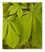 Green Leaves Series Fleece Blanket