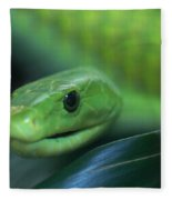 Green Mamba 2 Fleece Blanket