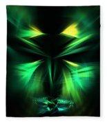 Green Man Fleece Blanket