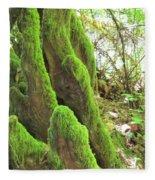 Green Moss Fleece Blanket