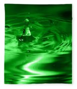 Green Multi Colored Water Drop Bubbling Fleece Blanket