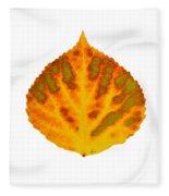 Green Orange Red And Yellow Aspen Leaf 1 Fleece Blanket