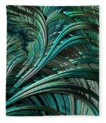 Green Palm - A Fractal Abstract Fleece Blanket