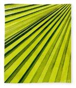 Green Palm Frond Fleece Blanket