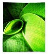 Green Paradise - Leaves By Sharon Cummings Fleece Blanket