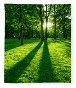 Green Park Fleece Blanket