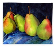 Green Pears Fleece Blanket