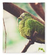 Green Pigeon Fleece Blanket