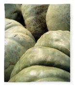 Green Pumpkins Fleece Blanket