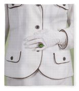 Green Ring Fleece Blanket