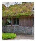 Green Roof Fleece Blanket
