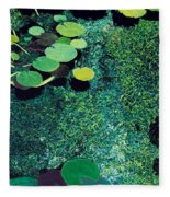 Green Shimmering Pond Fleece Blanket