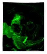 Green Skull Fleece Blanket