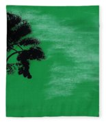 Green Sky Sunset Fleece Blanket