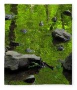 Green Stream Fleece Blanket