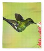 Green Thorntail Hummingbird Fleece Blanket