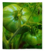 Green Tomatos Fleece Blanket
